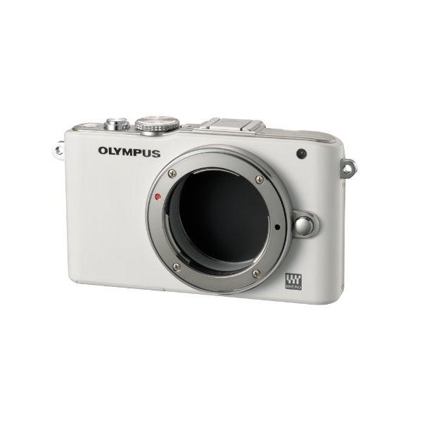 【中古】【1年保証】【美品】OLYMPUS E-PL3 ボディ ホワイト