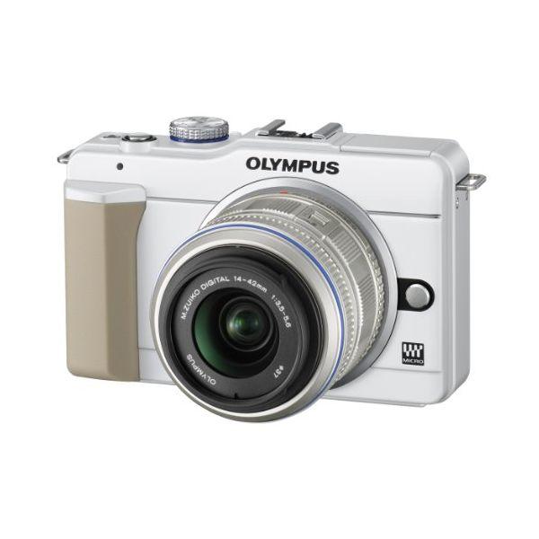 【中古】【1年保証】【良品】 OLYMPUS E-PL1S レンズキット ホワイト