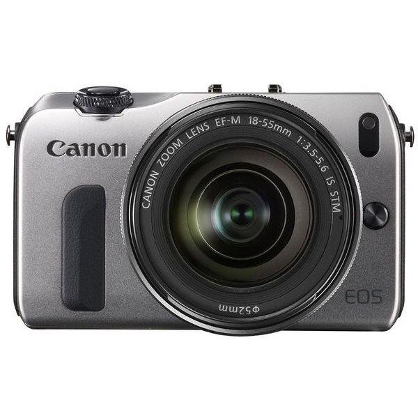 【中古】【1年保証】【美品】Canon EOS M レンズキット 18-55mm IS STM シルバー