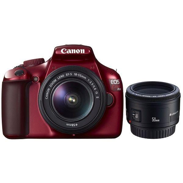 【中古】【1年保証】【美品】Canon EOS Kiss X50 レッド こだわりスナップ