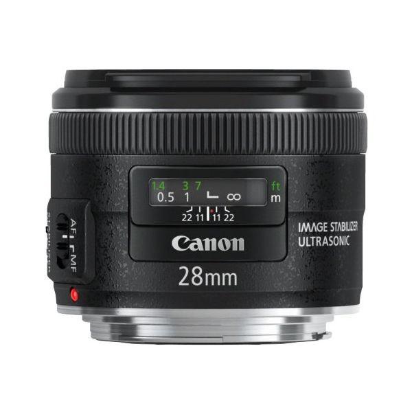 【中古】【1年保証】【美品】Canon EF 28mm F2.8 IS USM