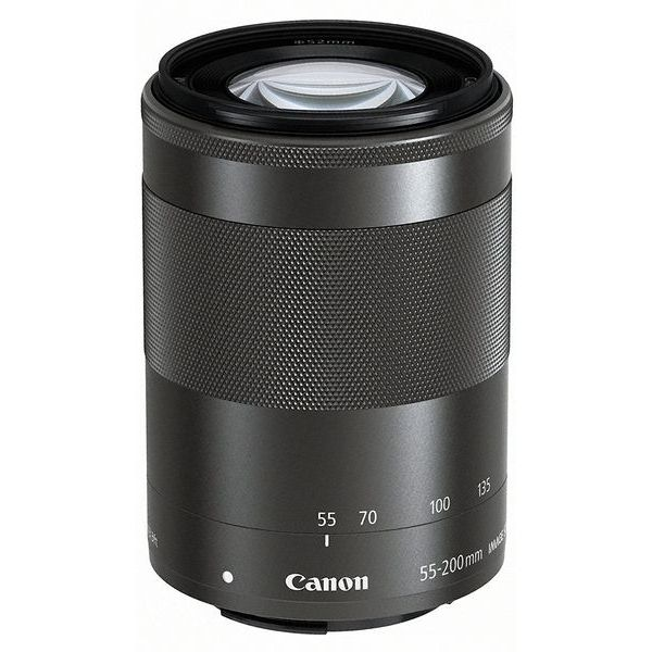 【中古】【1年保証】【美品】Canon EF-M 55-200mm F4.5-6.3 IS STM ブラック