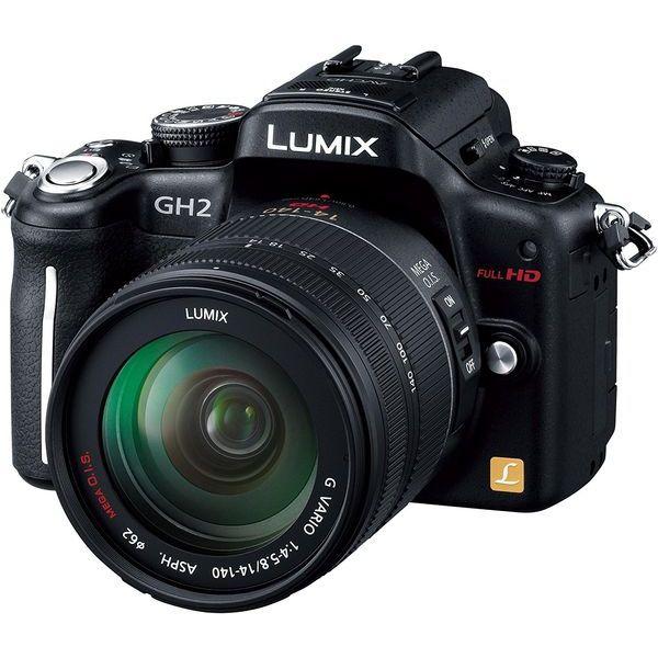 【中古】【1年保証】【美品】Panasonic LUMIX DMC-GH2H レンズキット ブラック