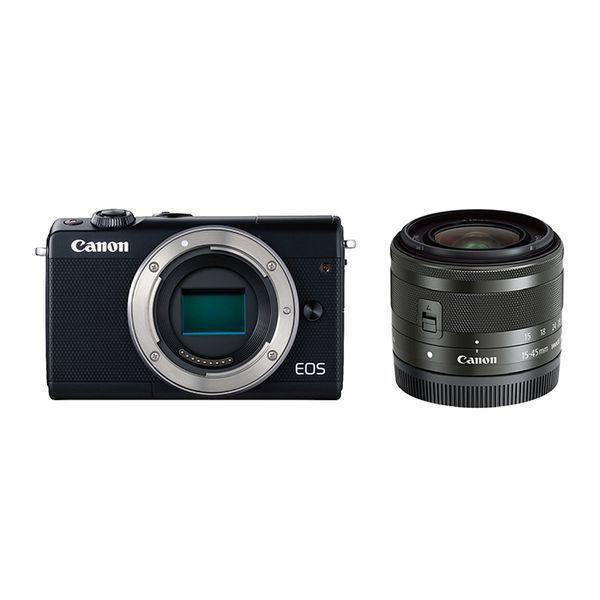 【中古】【1年保証】【美品】Canon EOS M100 レンズキット 15-45mm IS STM ブラック