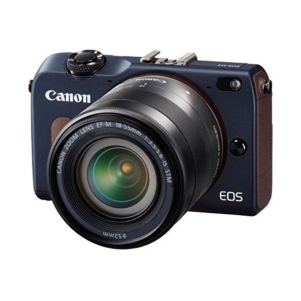 【中古】【1年保証】【美品】Canon EOS M2 レンズキット 18-55mm IS STM ブルー