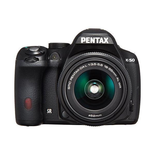 【中古】【1年保証】【美品】PENTAX K-50 DAL 18-55mm WR ブラック