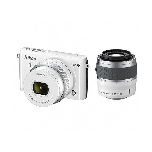 【中古】【1年保証】【美品】Nikon S2 ダブルズームキット ホワイト