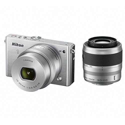 【中古】【1年保証】【美品】Nikon J4 ダブルズームキット シルバー