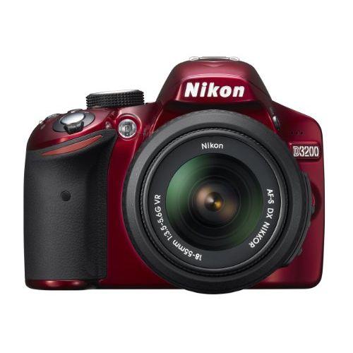 【中古】【1年保証】【美品】 Nikon D3200 レンズキット AF-S DX 18-55mm VR レッド