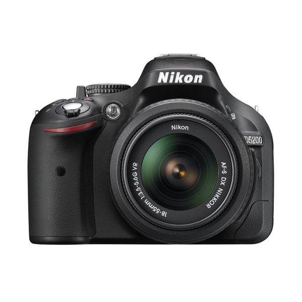 【中古】【1年保証】【美品】Nikon D5200 AF-S 18-55mm VR ブラック