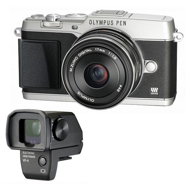 【中古】【1年保証】【美品】OLYMPUS E-P5 17mm F1.8 VF-4セット シルバー