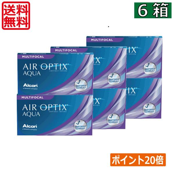 【送料無料】エアオプティクスアクア遠近両用6枚×6箱【アルコン】【遠近両用】
