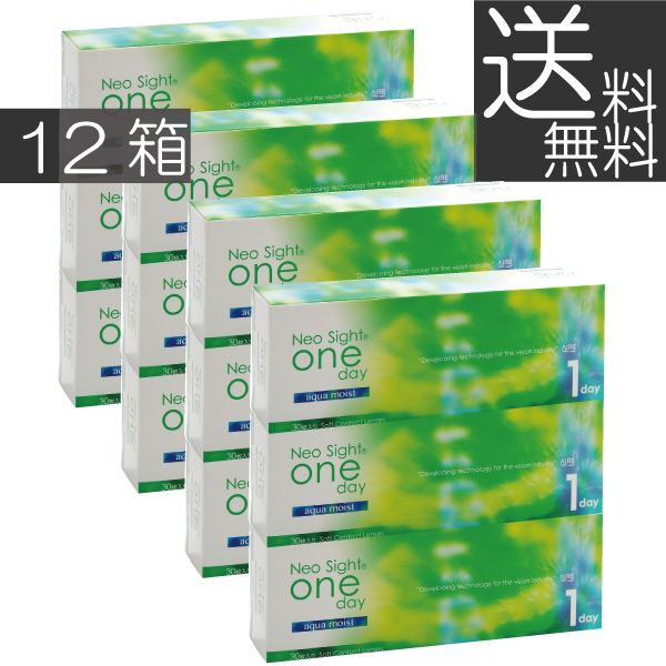 コンタクトレンズ【送料無料】ネオサイトワンデーアクアモイスト(30枚)×12箱アイレ/1日使い捨て
