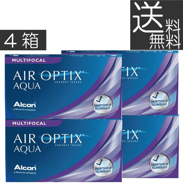 【送料無料】エアオプティクスアクア遠近両用6枚×4箱【アルコン】【遠近両用】