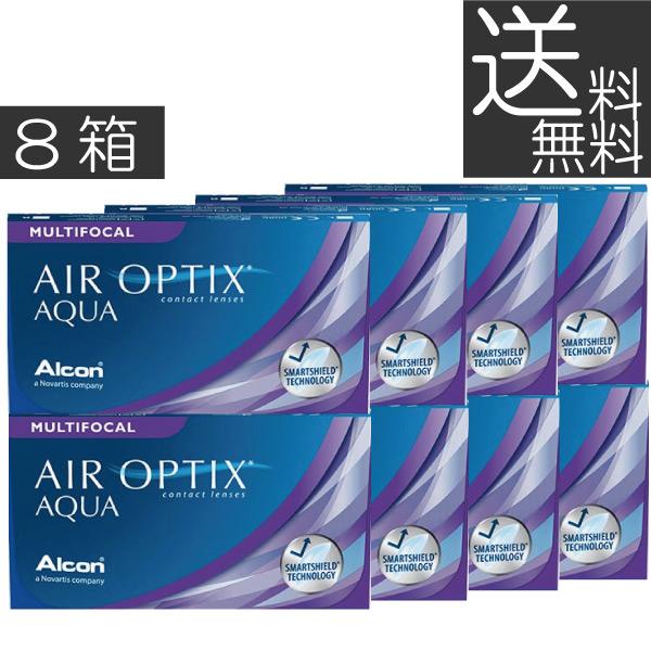 【送料無料】エアオプティクスアクア遠近両用6枚×8箱【アルコン】【遠近両用】