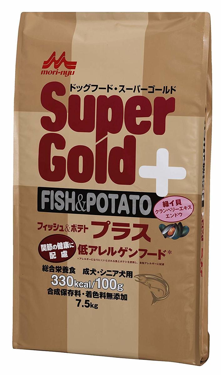 スーパーゴールド フィッシュ & ポテト 関節ケア 7.5kg 森乳サンワールド ドッグフード