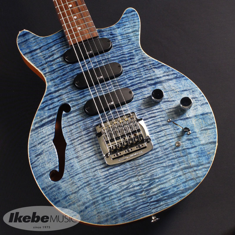 Kz Guitar Guitar Works《ケイズギターワークス》 Kz One Semi-Hollow Blue) Semi-Hollow 3S11 Kahler (See-through Blue) #20180065 [サウンドメッセ2018出展品]【あす楽対応】, 喬木村:703b97ba --- thomas-cortesi.com