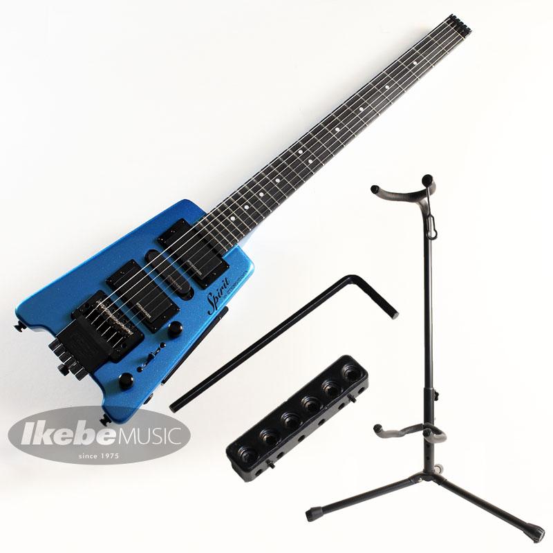 STEINBERGER 《スタインバーガー》Spirit GT-PRO DELUXE (FB/Frost Blue)String Adapter STADG06 [ギター用ストリングアダプター]& Ikebe Original スタインバーガー用スタンド 【お買い得セット!】【あす楽対応】