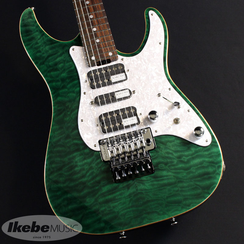 SCHECTER 《シェクター》 SD-2-24-AL (See-Thru Green/Rosewood) 【あす楽対応】