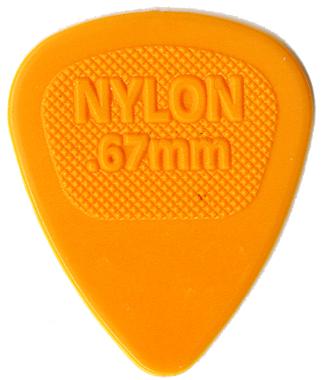 Dunlop Jim 今季も再入荷 ショップ 《ジム ダンロップ》Midi Standard Nylon×10枚セット 443R 0.67mm オレンジ