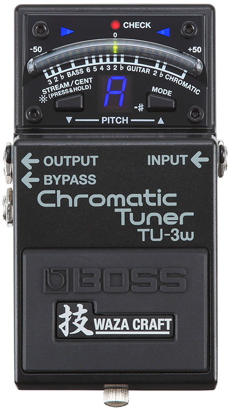 "BOSS 《ボス》 TU-3W(J) ""MADE IN JAPAN"" [Chromatic Tuner 技 Waza Craft Series Special Edition] 【IKEBE×BOSSオリジナルデザイン缶クージープレゼント】【あす楽対応】【oskpu】"