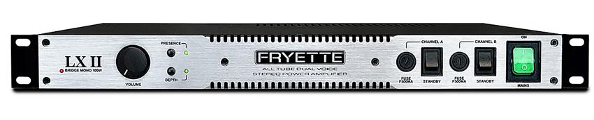 1Uサイズ・フルチューブ・ステレオパワーアンプ FRYETTE《フライエット》LXII 50+50W PowerAmp【パワーアンプ】【あす楽対応】【送料無料!】