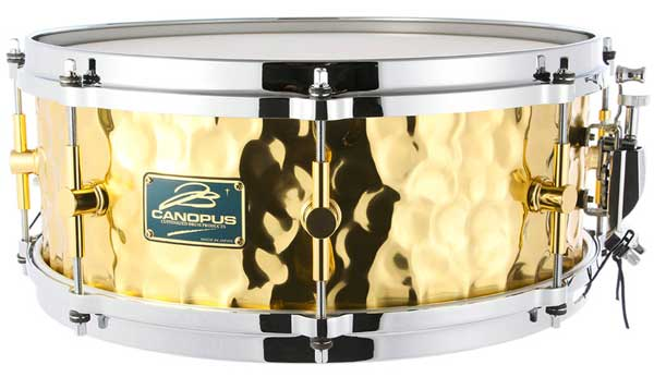 CANOPUS《カノウプス》 HB-1455 [Hammered Brass Snare Drum / 14