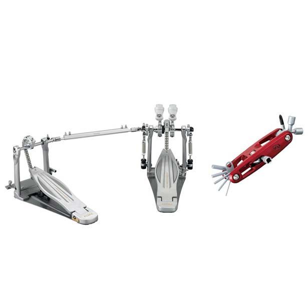 "TAMA・バスドラムペダル  【数量限定特価】TAMA《タマ》 HP910LWN [Rolling Glide LiteSprocket Twin Pedal]【MULTI TOOL Special RED ver. ""TMT9R"" プレゼントキャンペーン!】【あす楽対応】"