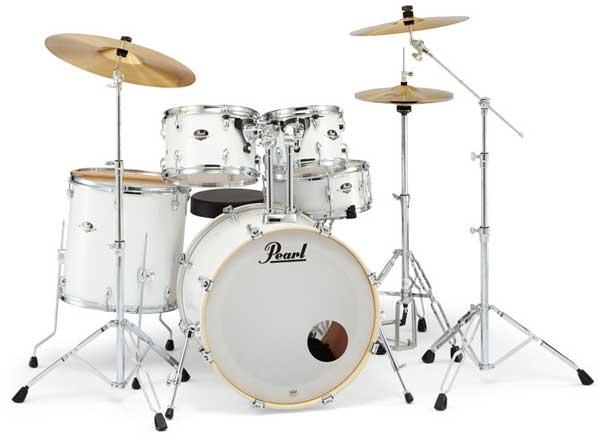 Pearl 《パール》 EXX725S/C #33 [EXPORT Series:ピュアホワイト] 【バスドラム・マフラー(ミュート)付属】【教則DVD:サービス!】 【お取り寄せ品】