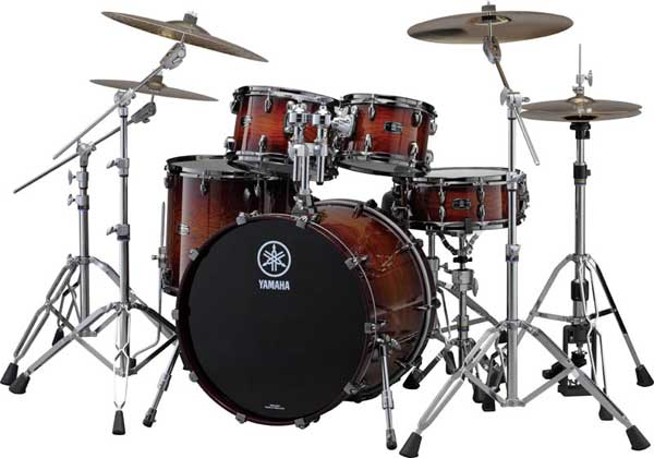 YAMAHA 《ヤマハ》 LIVE CUSTOM 4pc Drum Set (Bass Drum 深さ18インチ)[LNP6F3AWS + LNB2218AWS] 【BD22、FT16、TT12&10/アンバーシャドーサンバースト(AWS)】【お取り寄せ品】