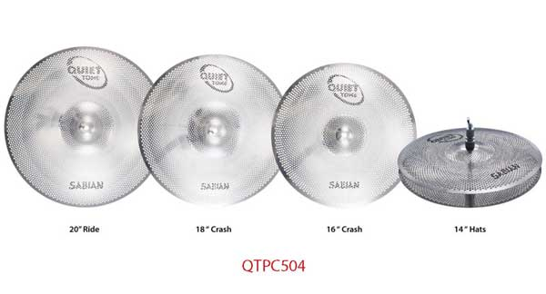 "Sabian/XS 《セイビアン》 SAB-QTPC504 [QUIETTONE Cymbal Practice Kit (14"" Hats / 16"" Crash / 18"" Crash"" / 20"" Ride)]"