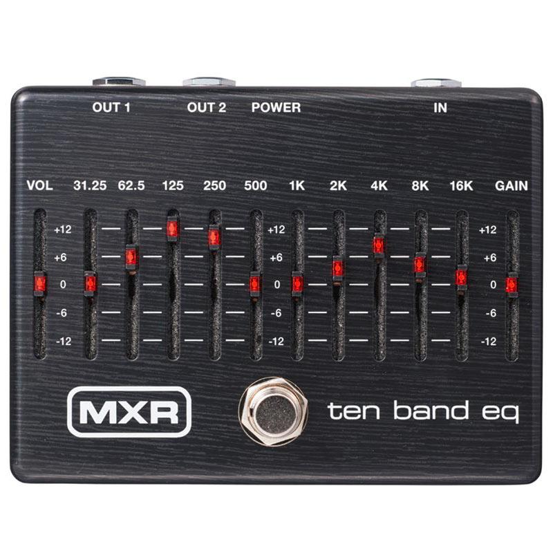 漆黒の筐体に赤色LEDの特別仕様で日本国内限定発売。 MXR M108SE TEN BAND EQ Limited Ebony 【あす楽対応】
