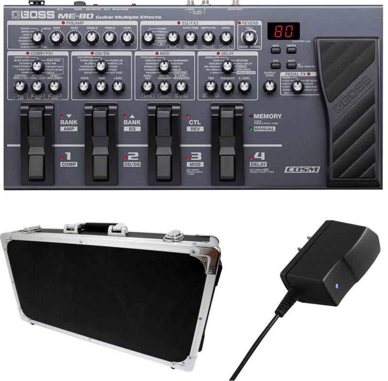 もれなくハードケースEC60 BK 購入 + PSA100Sプレゼント BOSS 送料無料 BK+ あす楽対応 与え oskpu 《ボス》ME-80