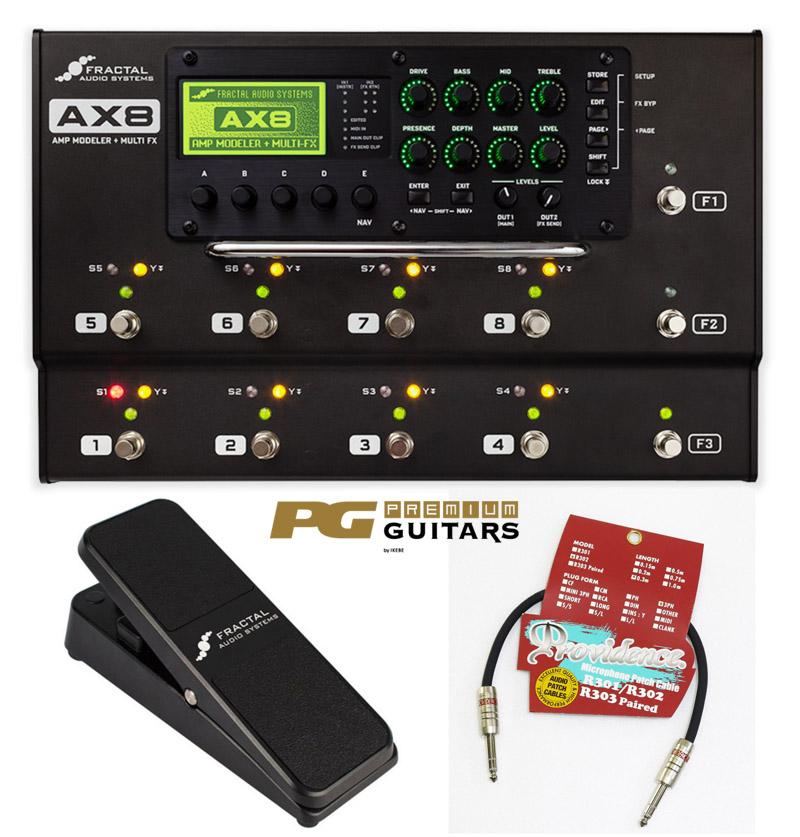 FRACTAL AUDIO SYSTEMS 《フラクタル・オーディオ・システム》AX8 + EV-1 Expression Volume Pedal (Black)SET【Providence R302 50cm S/S プレゼント!】【即納可!】【あす楽対応】【送料無料!】