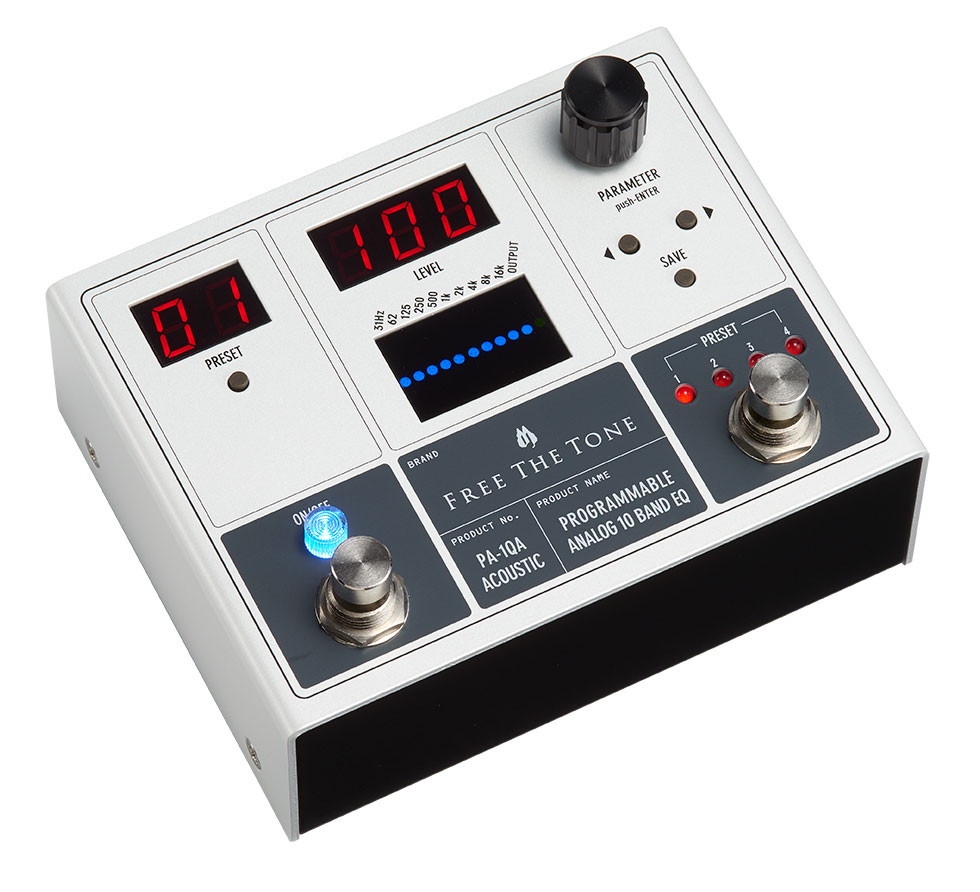 Free The Tone 《フリー・ザ・トーン》PA-1QA [PROGRAMMABLE ANALOG 10 BAND EQ/アコースティック用]