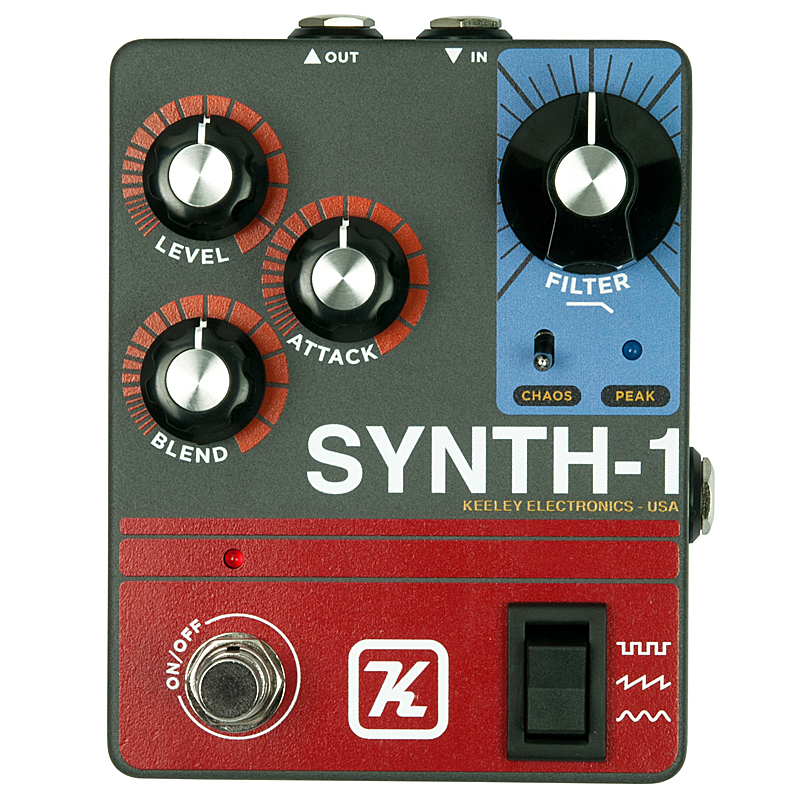 keeley 《キーリー》 Synth-1 Reverse Attack Fuzz Wave Generator【あす楽対応】 【今がチャンス!円高還元セール!】【keeleyロゴ入りTシャツプレゼント!】