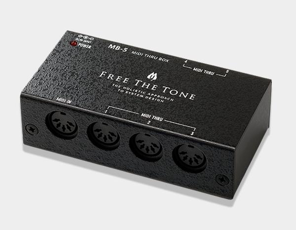 ワンランク上のシステム構築へ Free The Tone 《フリー モデル着用&注目アイテム ザ あす楽対応 BOX MIDI THRU 使い勝手の良い トーン》 MB-5