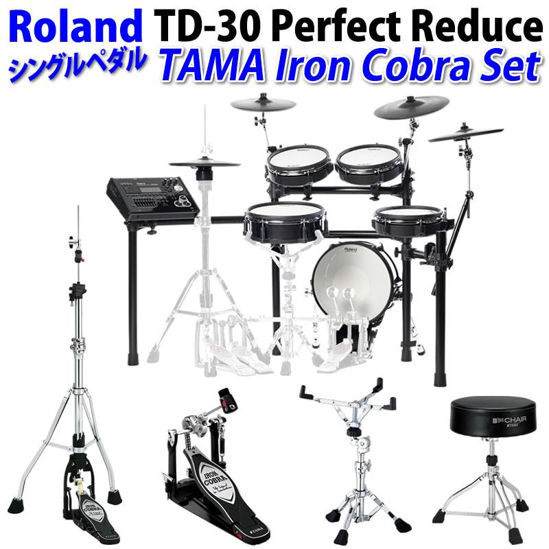 超爆安 Roland ] 《ローランド》/ Iron TD-30 Perfect Reduce [ TAMA Iron Cobra/ Single Pedal ] Set【oskpu】, LUZ-光:3fbf1024 --- wap.pingado.com