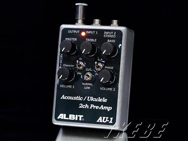 ALBIT 《アルビット》 AU-1 [Acoustic/Ukulele 2ch PRE-AMP]