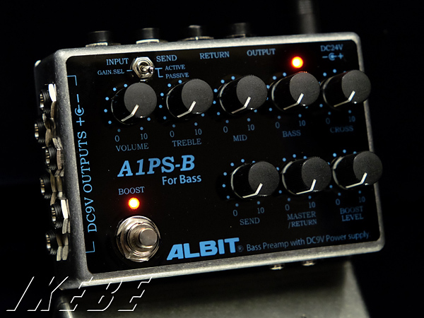 ALBIT 《アルビット》 A1PS-B [BASS PRE-AMP with DC9V POWER SUPPLY]