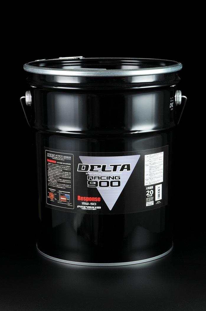 DELTA Racing エンジンオイル 900 Response 15W-50 エステル配合 100%化学合成油 20L
