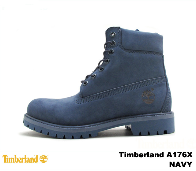 men's timberland 6 inch premium waterproof boots navy blue