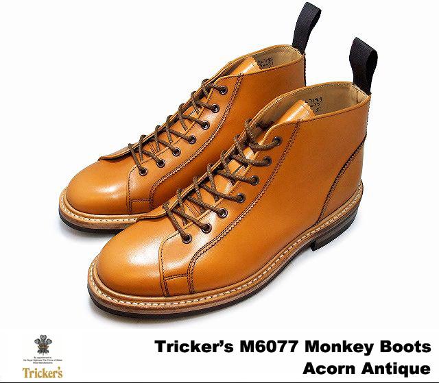 トリッカーズ モンキーブ-ツ エイコンアンティーク メンズ ブーツ ダイナイトソール Tricker's M6077 Monkey Boots Acorn Antique