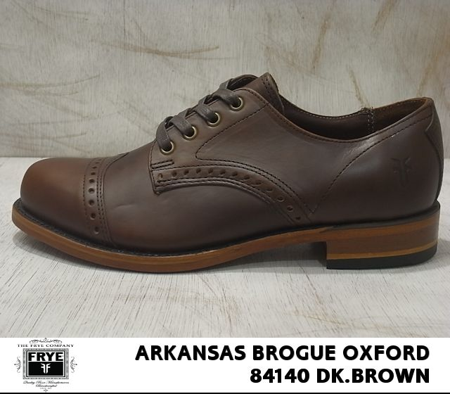 Fly /FRYE ARKANSAS BROGUE OXFORD / ALA census brogue Oxford dark brown /... BROWN 84140