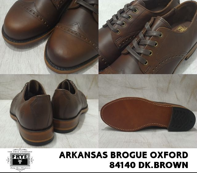 Fly /FRYE ARKANSAS BROGUE OXFORD / ALA census brogue Oxford dark brown /... BROWN 84140