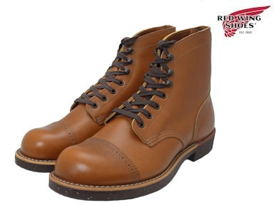 "RED WING #8011 IRON RANGE/MUNSON红翅膀铁头球棒范围长筒皮靴/Mansson White Ash ""Settler"""