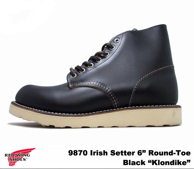 "Red Wing 9870 RED WING #9870 Irish setter black クローンダイク Irish Setter BLACK ""KLONDIKE"" dog tag planet"