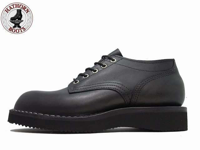 ハソーン オックスフォード ブラック レザー メンズ ブーツ Hathorn Oxford Rainier 104NWC Black Leather MADE IN USA
