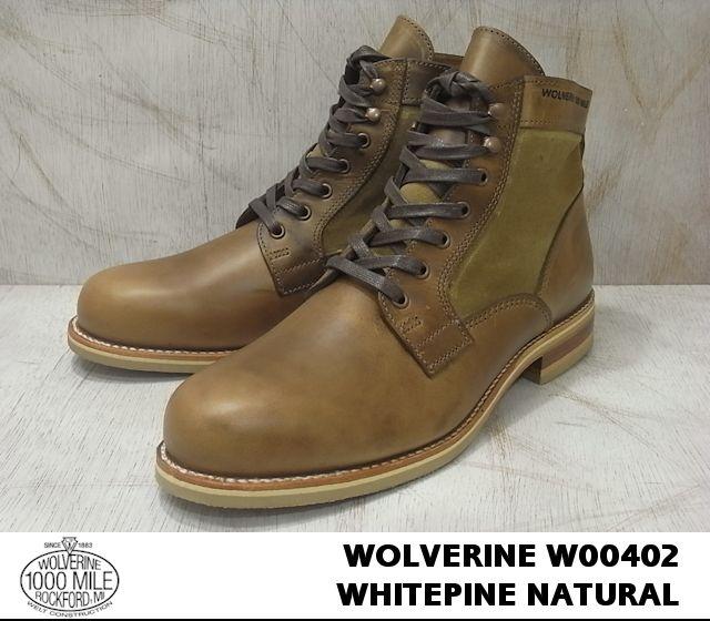 ウルヴァリン 1000マイルブーツ ナチュラル ホーウィンクロムエクセル WOLVERINE W00402 1000 MILE WHITEPINE BOOT 1000マイル メンズ ブーツ