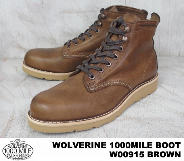 金刚狼与狼獾 1000年英里普启动 1000年英里普靴 W00915 棕色 / 棕色 Horween 老式皮革 howinbintage